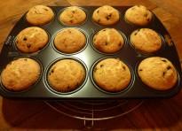 Muffin con gocce di cioccolata