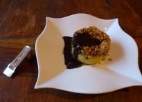 Sformatini di patate con salsa al cioccolato e noce moscata